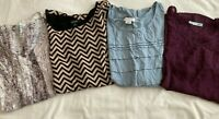 Lot Of 4 Women Shirts TOPS MAURICES Liz Claiborne ESPRESSO size MEDIUM LARGE