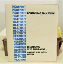 heathkit continuing education electronic test equipment analog & digital meters