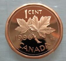 1996 CANADA 1 CENT PROOF PENNY COIN - A