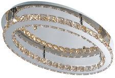 Kronleuchter Deckenleuchte Deckenlampe chrom acryl oval Kristall LED SMD SKY