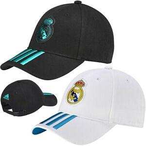 Adidas Children Real Madrid Baseball Cap Football Cap 54/56/58 Black White