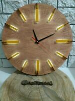hand made wooden WALL CLOCK with  illuminate