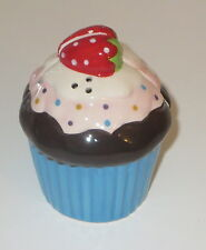 Cupcake Salt and Pepper Shakers S&P Magnetic Strawberry Blue Pink Sprinkles New