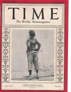 1931 Time February 9 - Charlie Chaplin; Gandhi; Rockwell Kent; Einstein burglars