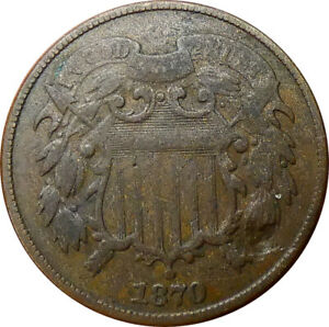1870 2 Cent Shield VG Condition - bmrEF#2