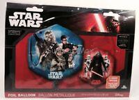 "Disney Star Wars Foil Helium Balloon 2 Sided 17"" Square Design New"