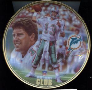 1996 Dan Marino NFL Quarterback Club Miami Dolphins Bradford Exchange Plate