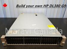 HP DL380 G9 Server 24 Bays Dual E5-2620 V3 CPU 64GB RAM 3x300GB HDD 2x800W PSU