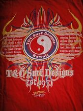 T&c Town & Country Surf Hawaii Rouge Ying & Yang T-shirt classique