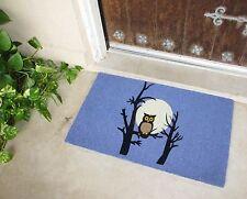 owl DOORMAT PURPLE spring fall Full Moon front door mat floor rubber Halloween