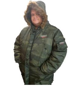 Larger Mens Big sizes Parker  Camo  Coats 2XL# 3XL# 4XL# 5XL#