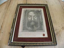 RELIQUAIRE ANCIEN / VOILE DE VERONIQUE / CACHET CIRE  /SAINTE FACE DE JESUS