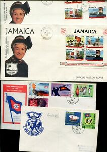 Jamaica Salvation Army 4 FDC Covers