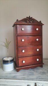 Antique Miniature Chest of Drawers, Vintage Furniture, Rare Antique Furniture