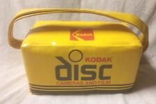 KODAK DISC CAMERAS AND FILM Yellow Vinyl Insulated Bag Cooler Nappe Babcock VGC