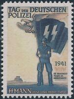 Stamp Replica Label Germany 0260 WWII WHW German Police Polizei MNH