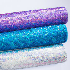 Felt Backed Holographic Sequin Fabric - Fabric Felt perfect for Bow Making