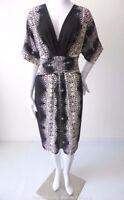 NICOLA FINETTI Dress Mock Wrap Made in Australia NEW  Size 10 - 12 US 6 -  8
