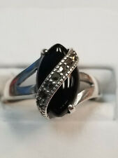 Sterling Silver Synthetic Black Onyx Ring