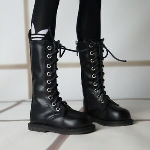 """Black Boots BJD SHOES Synthetic Leather For Man 1/3 24"""" BJD SD AOD AS LUTS DOLL"""