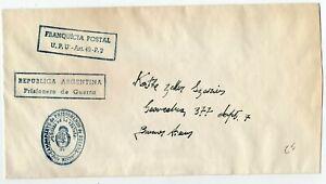 1939 ARGENTINA / GERMANY GRAF SPEE SHIP PRISONER OF WAR COVER, RARE !!