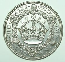 More details for very scarce 1933 george v wreath crown, british silver coin [only 7132 struck]