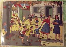 Carte Expo Affiche Scolaire  30x21cm 1950 La Rentrée D'école