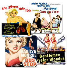 Marilyn Monroe Movie Film Poster Coasters Set Of 4. High Quality Cork. Bus Stop