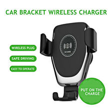 Qi Wireless Automatic Car Charging Charger Mount Clamping Phone Holder Stand US