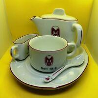 MITROPA Speisewagen-Kaffeegedeck, Porzellan von Lang Ebrach, Bavaria, NEU, RAR
