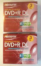 Memorex 5 Pack DVD+R DL Double Layer 8.5 GB 240 min Video 2.4X