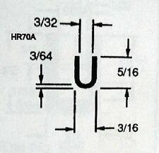 "U Channel EPDM Rubber Edge Trim 3/32""  HR 70A .. 50 Ft Special Listing"