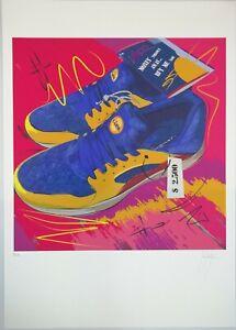 Grafica d'autore firmata, titolo Lidl Shoes (stampa litografia serigrafia)