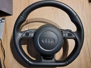 Volant Audi A3 8V méplat DSG + Airbag + palette chrome