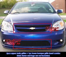 Fits Chevy Cobalt SS/Sport Black Billet Grill Insert Combo 05-10