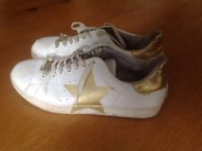 Steve Madden White And  Gold  Trainers Size Uk 8 /41