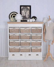 Pharmacy Cabinet Cupboard Antique Style White Storage Solution Incl. 12 baskets!