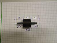 Tampon Amortisseur de Vibrations en Caoutchouc D=25 / M6 L = 18/20/18