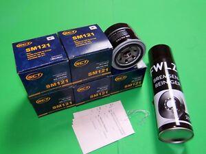 5x Ölfilter + Bremsenreiniger Mazda 6 (GG, GY, GH) 2.0 CD,  2.2 CD Diesel