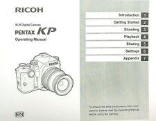 Pentax KP SLR Digital Camera OPERATING MANUAL (148 Page)