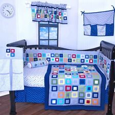 9 pieces Baby Boy/Girl crib bedding nursery  set,Modern geometric design, NEW