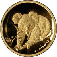 2010-P Australia $100 Gold Koala PCGS PR69DCAM High Relief - 1oz .9999 Fine