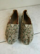 Toms Classic Teepee/Cactus Espadrille Slip On Flats Shoes Women's Size 6
