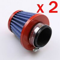 2x 38mm Air Filter POD Cleaner For BIKE DIRT ATV QUAD Motorcycle Honda Suzuki