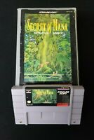 1993 Secret of Mana With Manual SNES Super Nintendo Game Cartridge Preowned Cond