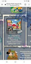 Disney Parks Pin Of The Month Kingdom Console  Goof troop pin presale August 22