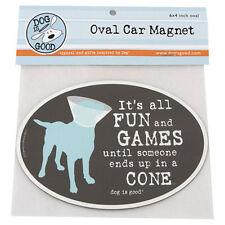 Dog Is Good car magnet - ALL FUN & GAMES UNTIL - #DIG-GMA-004