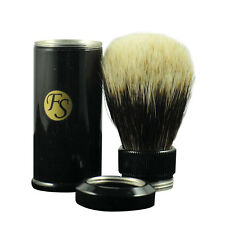 Light Weight 2 Band Finest Badger Hair Travel Shaving Brush Aluminum Tube Black