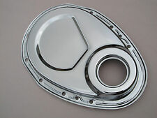 Engine Pro Chrome Steel Timing Chain Cover Small Block Chevy