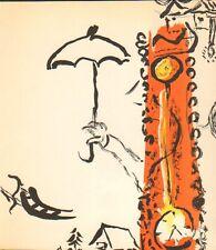 Marc Chagall-Original-Lithographie-Mourlot 192 B-Paysage avec parapluie